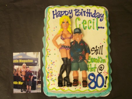 Old Guy And Babe Cake