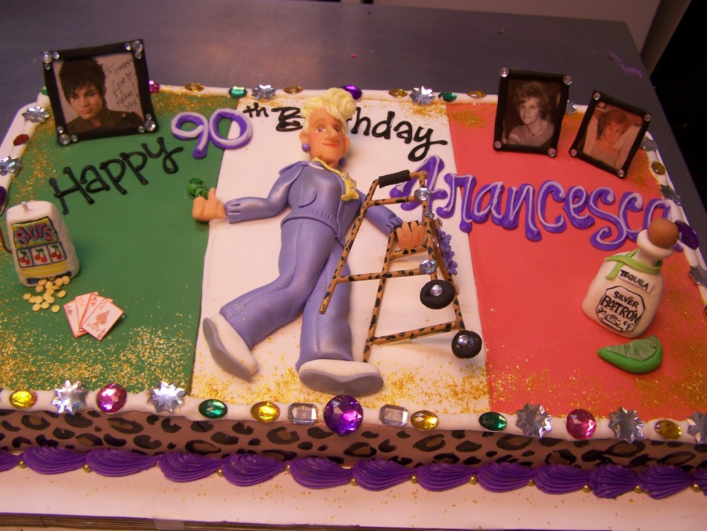 Posted In Custom Cakes Grown Up Birthday Over The Hill CakesTagged Caricature Elderly Italian Italy Person
