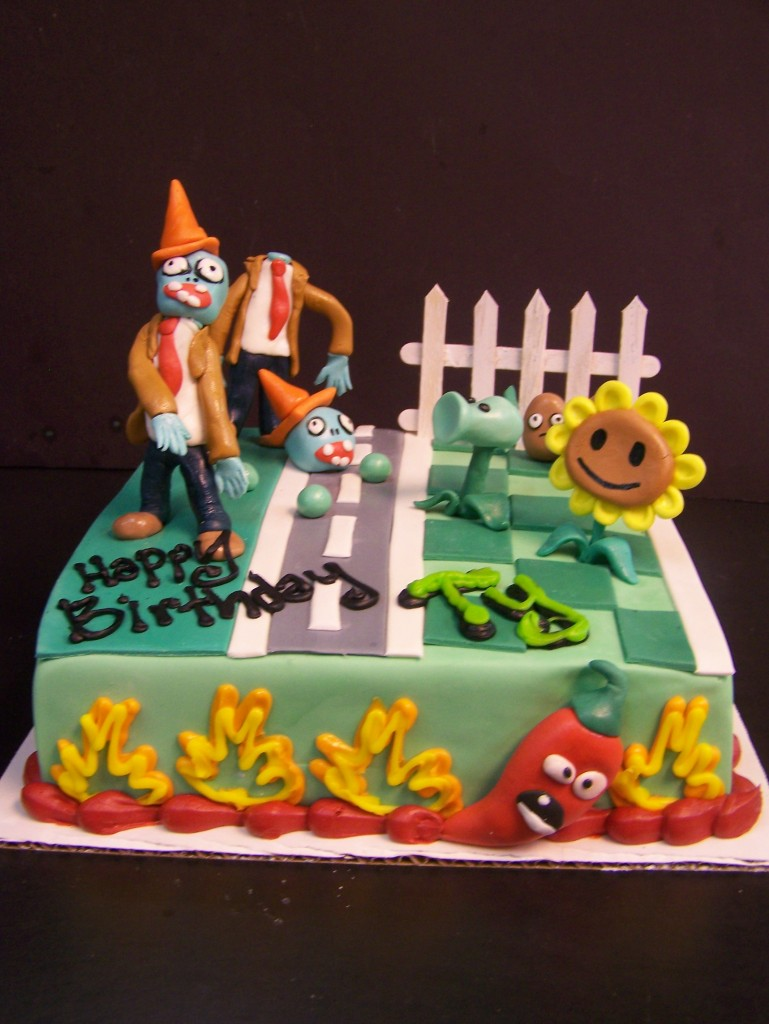 Plants Vs Zombies birthday cake le Bakery Sensual