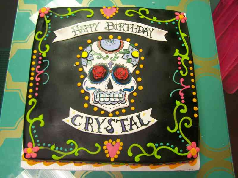 Day Of The Dead Wedding Gifts: Day Of The Dead Birthday Cake