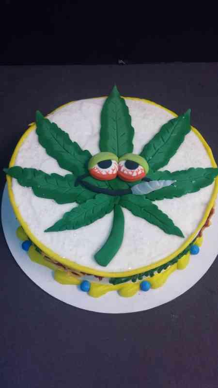 Pothead Pot Leaf Cake Le Bakery Sensual