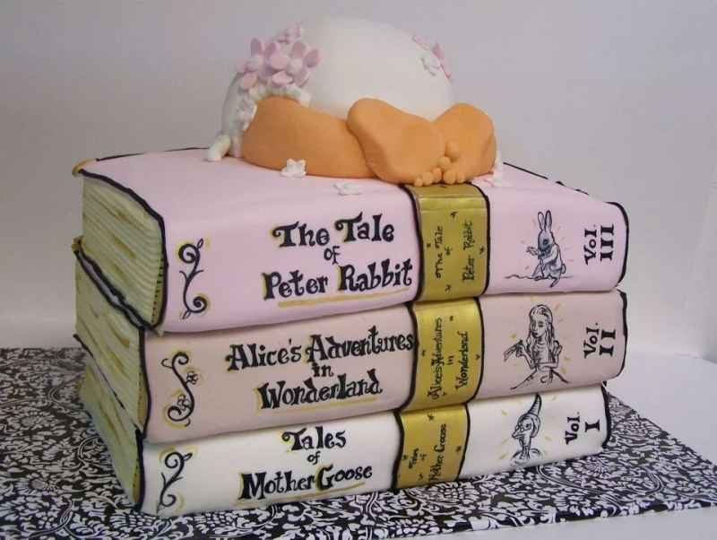 Childrens Books Baby Shower Cake Le Bakery Sensual