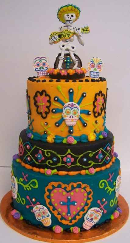 Guitar Strumming Day Of The Dead Cake Le Bakery Sensual