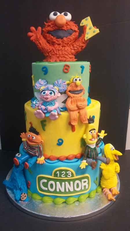 Sesame Street First Birthday Cake Le Bakery Sensual