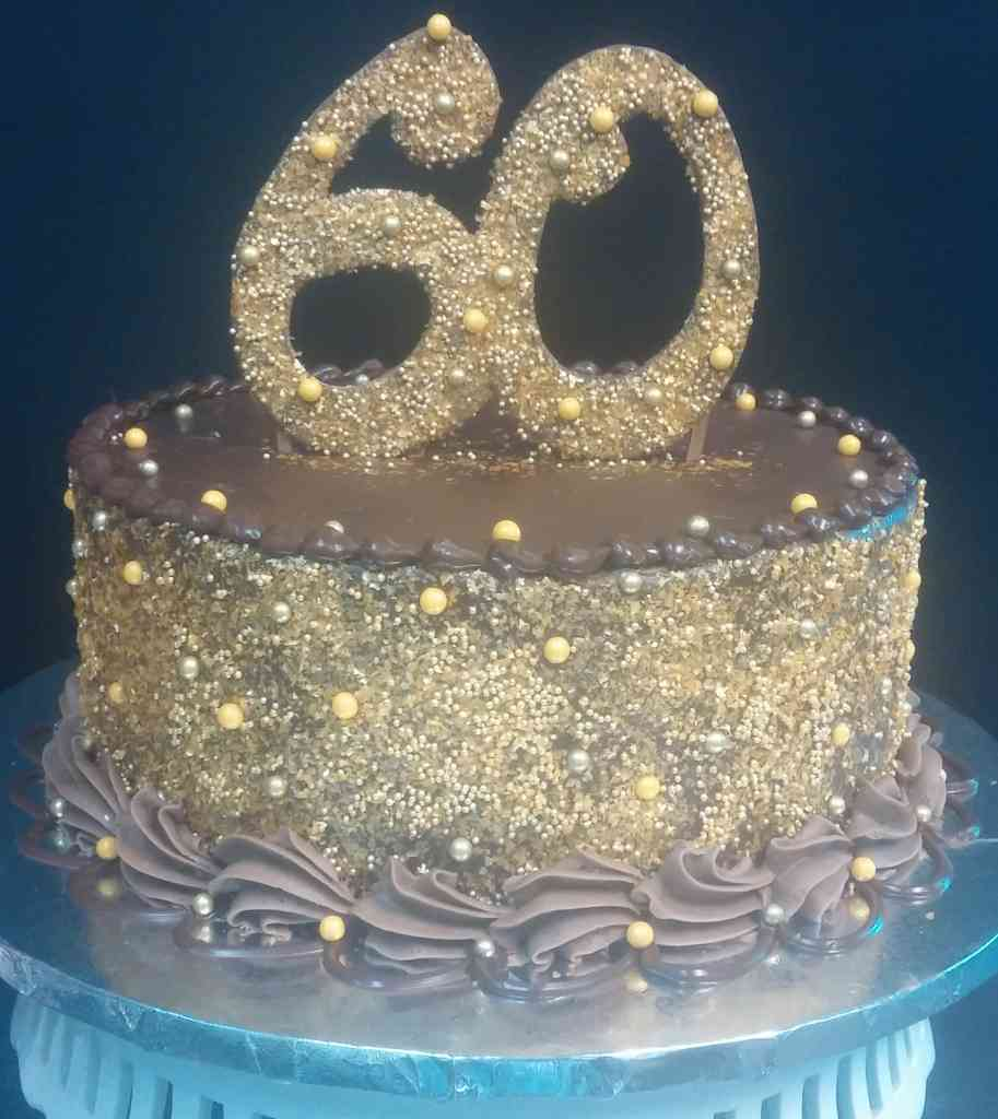 Gold 60th Birthday Cake Le Bakery Sensual