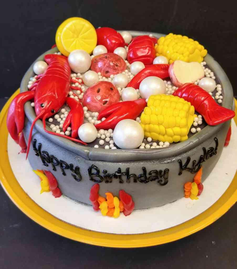 Salmon Birthday Cake: Le' Bakery Sensual