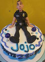 JoJos Police Caricature Birthday Cake
