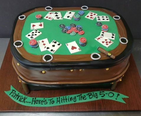 Poker table birthday cakes recipe for baileys poke cake