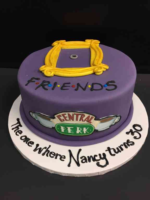 Friends Themed Birthday Cake