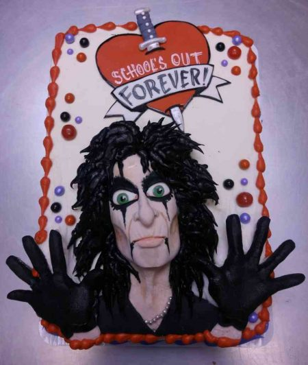 Alice Cooper Graduation Cake