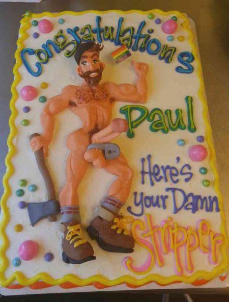 Lumbersexual Bachelor Bachelorette Party Cake