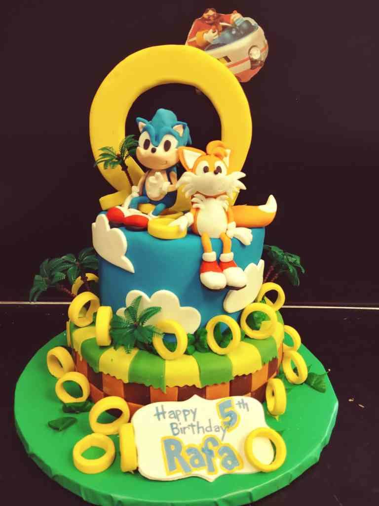 Sonic The Hedgehog Tiered Cake Le Bakery Sensual